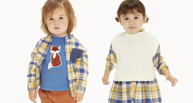 子供達が楽しく着る服、元気な色、シンプルな型、着まわしのきくデイリーウェアー。moujonjon ムージョンジョン