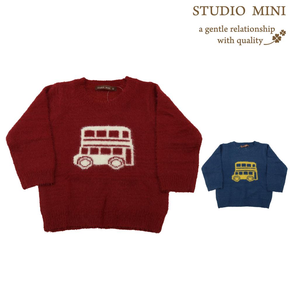 G56612フェザーヤーンバス柄セーター