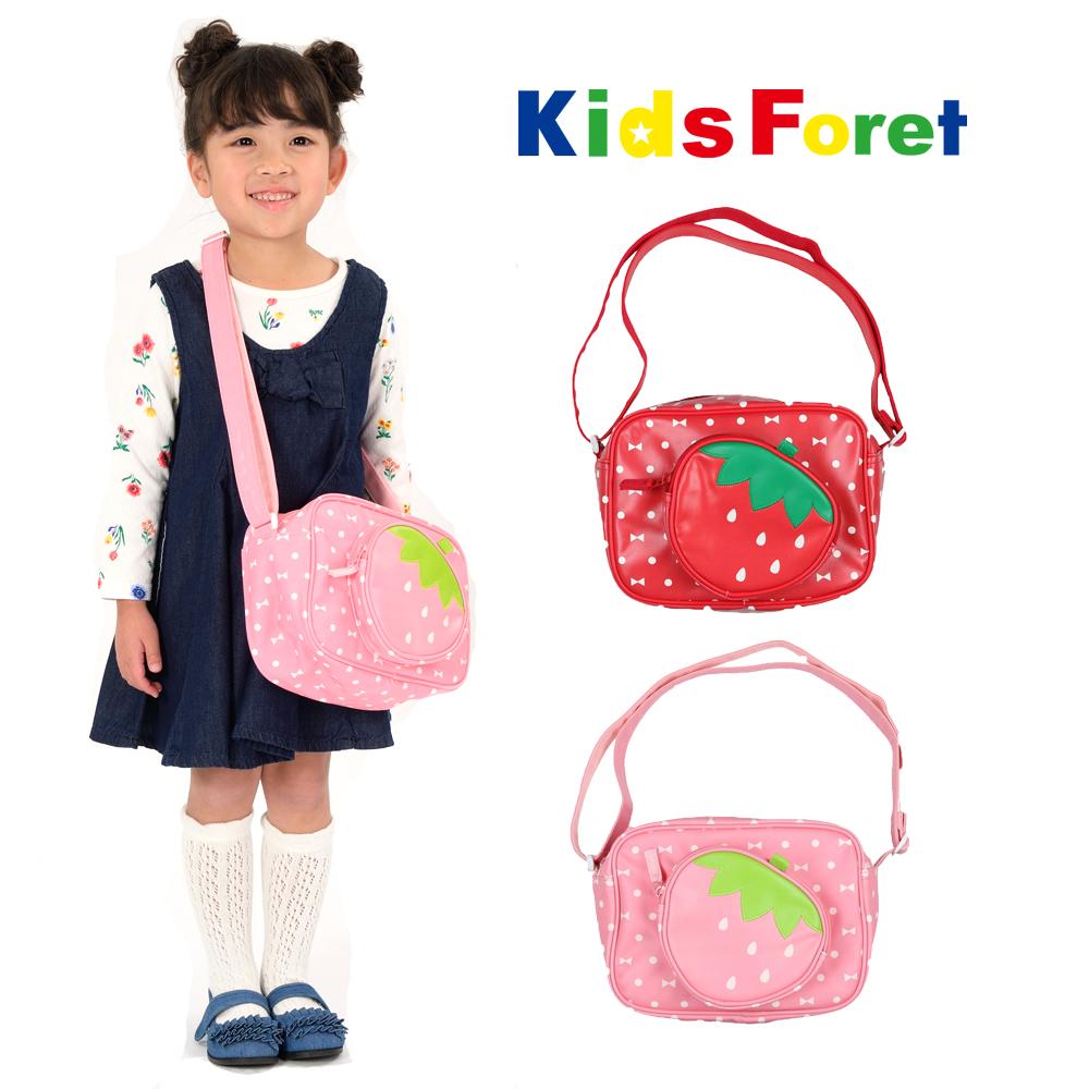 B11668Kids Foret (キッズフォーレ) いちご通園バッグ・鞄・ショルダーバッグ