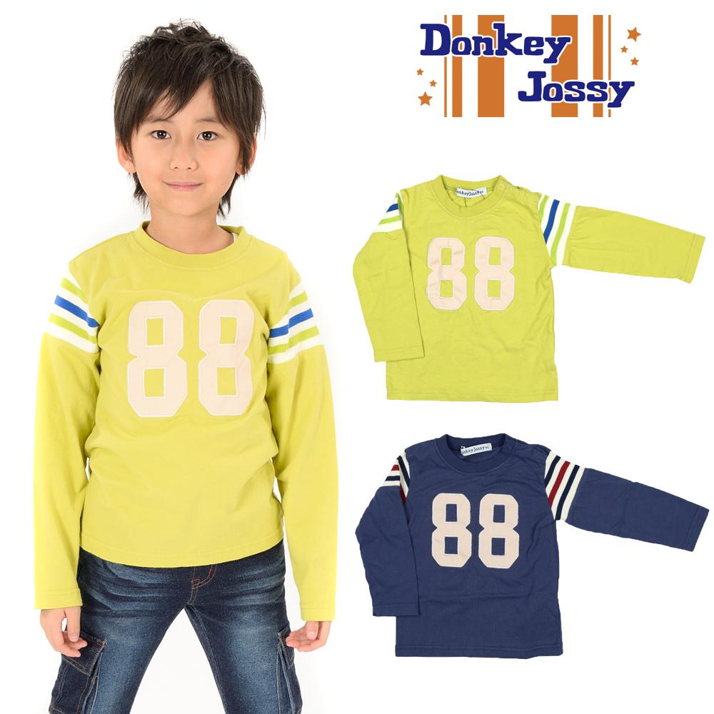 S10806Donkey Jossy (ドンキージョシー) 袖切替ナンバリングTシャツ