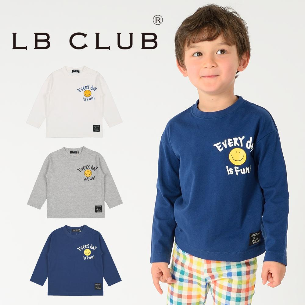 S12861LB CLUB スマイルマークプリントTシャツ