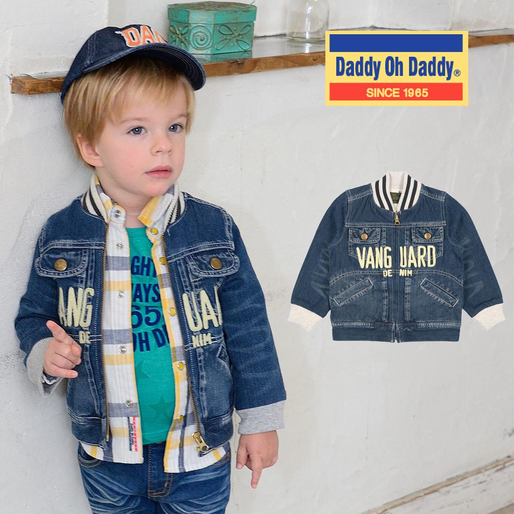 V12100Daddy Oh Daddy ロゴ刺繍デニムジャケット